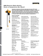 Harrington SEQ/EQ Electric Hoist Brochure