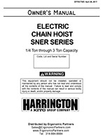Harrington SNER Electric Hoist Manual