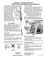 Hubbell-Gleason BH-Series Spring Balancer Manual