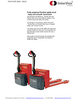 Interthor Powered Pallet Jacks Brochure