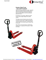 Interthor Manual Pallet Jacks Brochure