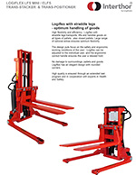 Interthor Straddle Pallet Stackers Brochure