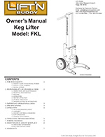 Lift'n Buddy Keg Lifter Manual