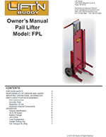 Lift'n Buddy Pail Lifter Manual