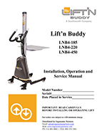 Lift'n Buddy Powered Compact Lifter Manual