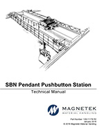 Magnetek SBN Pendant Instruction Manual