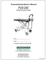 PLM-250 Powered Dandy Lift Manual