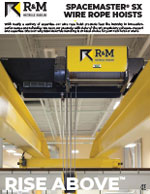 R&M Spacemaster SX Wire Rope Hoists Brochure