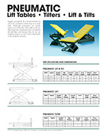 Southworth Pneumatic Lift Tables Brochure