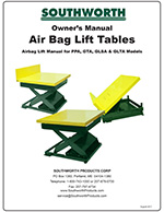 Southworth Pneumatic Lift Tables Manual