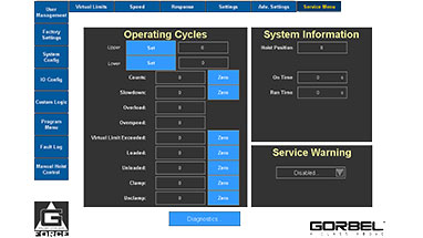 G-Force Smart Connect Service Menu
