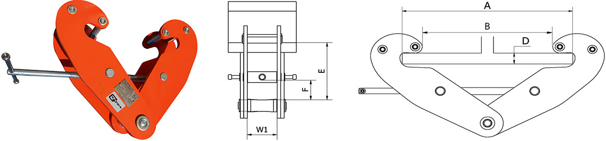 Grippa Beam Clamp Dimensions