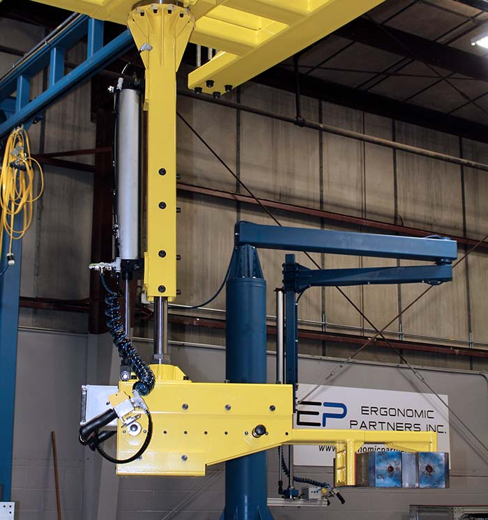 Low Profile Grip Manipulator for Lapping Machines