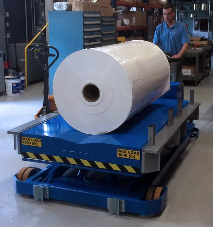 Mobile Lift Table for Large Paper Rolls