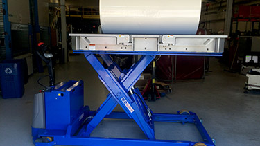 Mobile Roll Lifter in Up Position