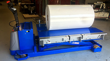 Portable Lift Table for Large Paper Rolls