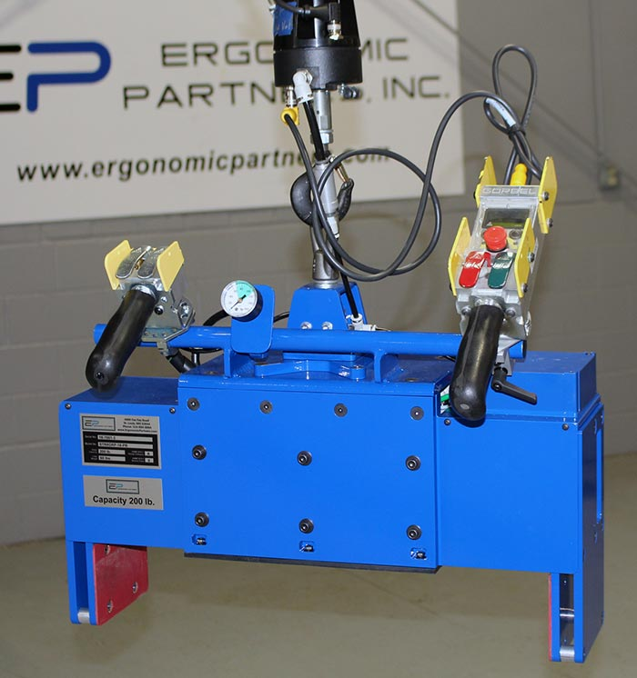 Multiple Size Part Lifter for Loading CNC Stations
