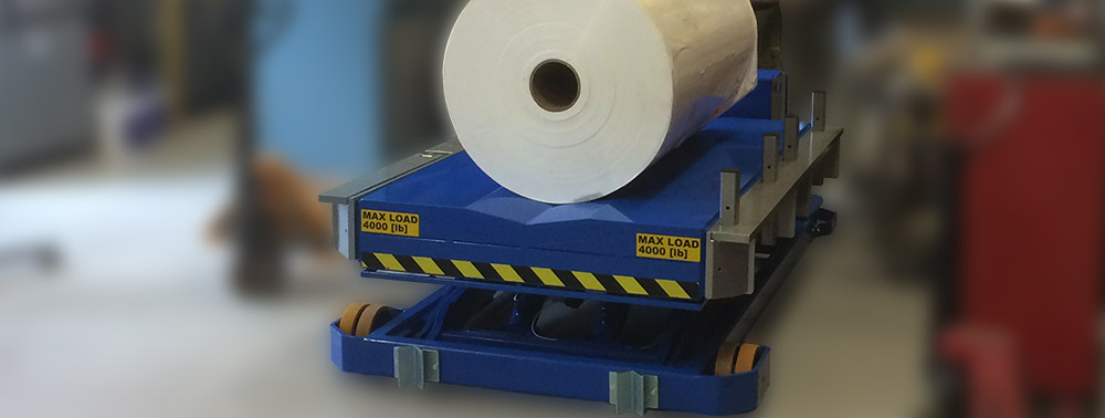 Portable Lifter for Paper Rolls