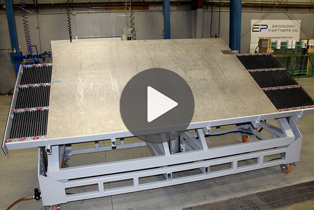 Portable Lift Table for Sheet Metal