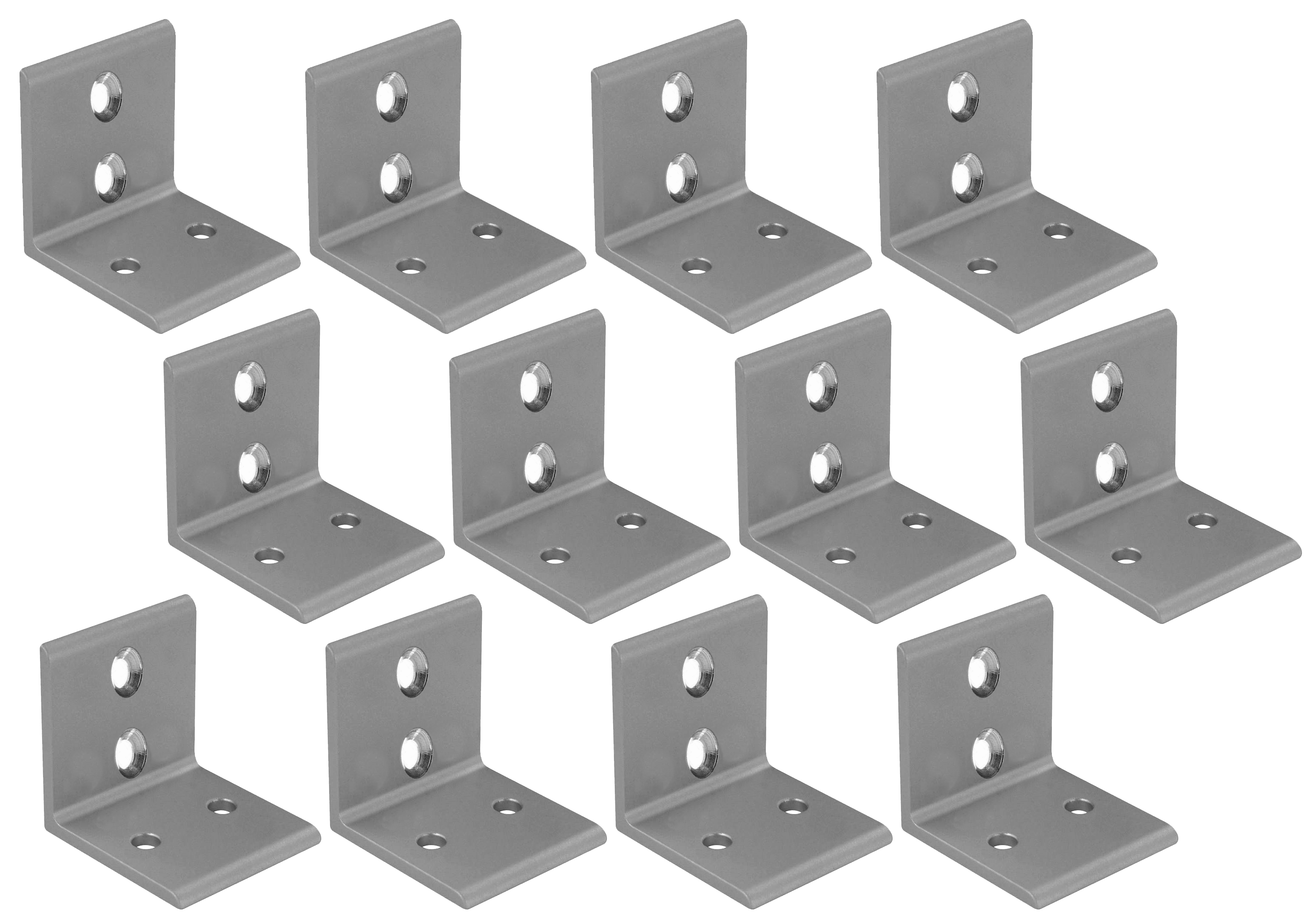 Aluminum Mounting Brackets (set of 12)