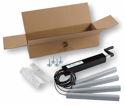 Dyna-Lift 4-Leg Manual Height Adjustable Kit, Stainless Steel Rod Ends & Feet