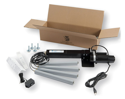 Dyna-Lift 4-Leg Electric Height Adjustable Kit, Stainless Steel Rod Ends & Feet