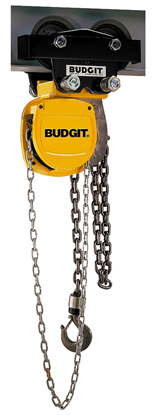 1-Ton Budgit USA Series, Army Type Trolley Hoist, Part No USA01LDP