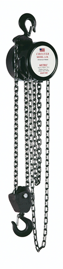 2-Ton Chester Model AM Hook Type Hand Chain Hoist, Part No 150-2