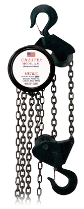 3-Ton Chester Model AM Hook Type Hand Chain Hoist, Part No 150-3