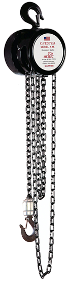 1/4-Ton Chester Model AM Hook Type Hand Chain Hoist, Part No 150-1/4