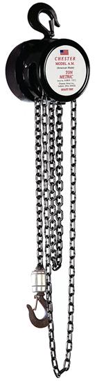 1/2-Ton Chester Model AM Hook Type Hand Chain Hoist, Part No 150-1/2