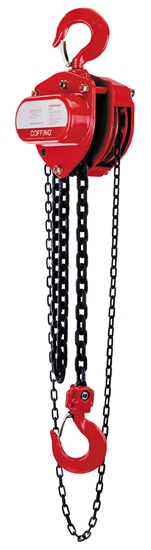 1-Ton Coffing LHH Model Hand Chain Hoist, Lift 10 ft., Part No 08910W