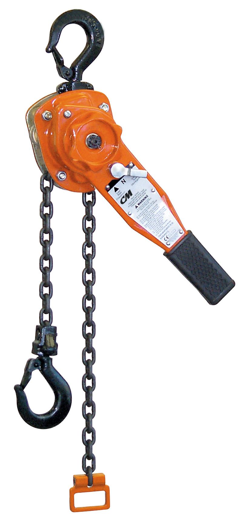 1-ton cm series 653 come along lever hoist  ergonomic partners