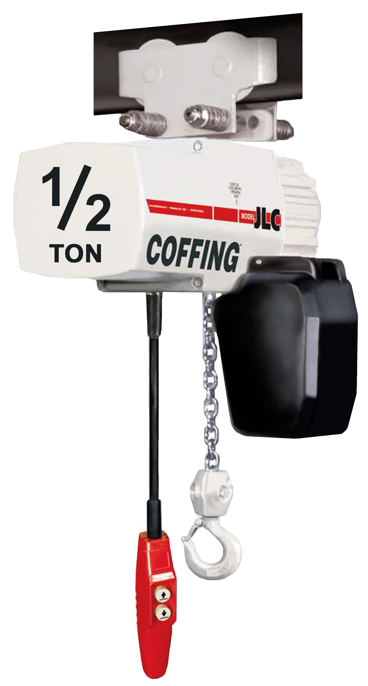 1/2-Ton Coffing JLC Electric Chain Hoist with Trolley