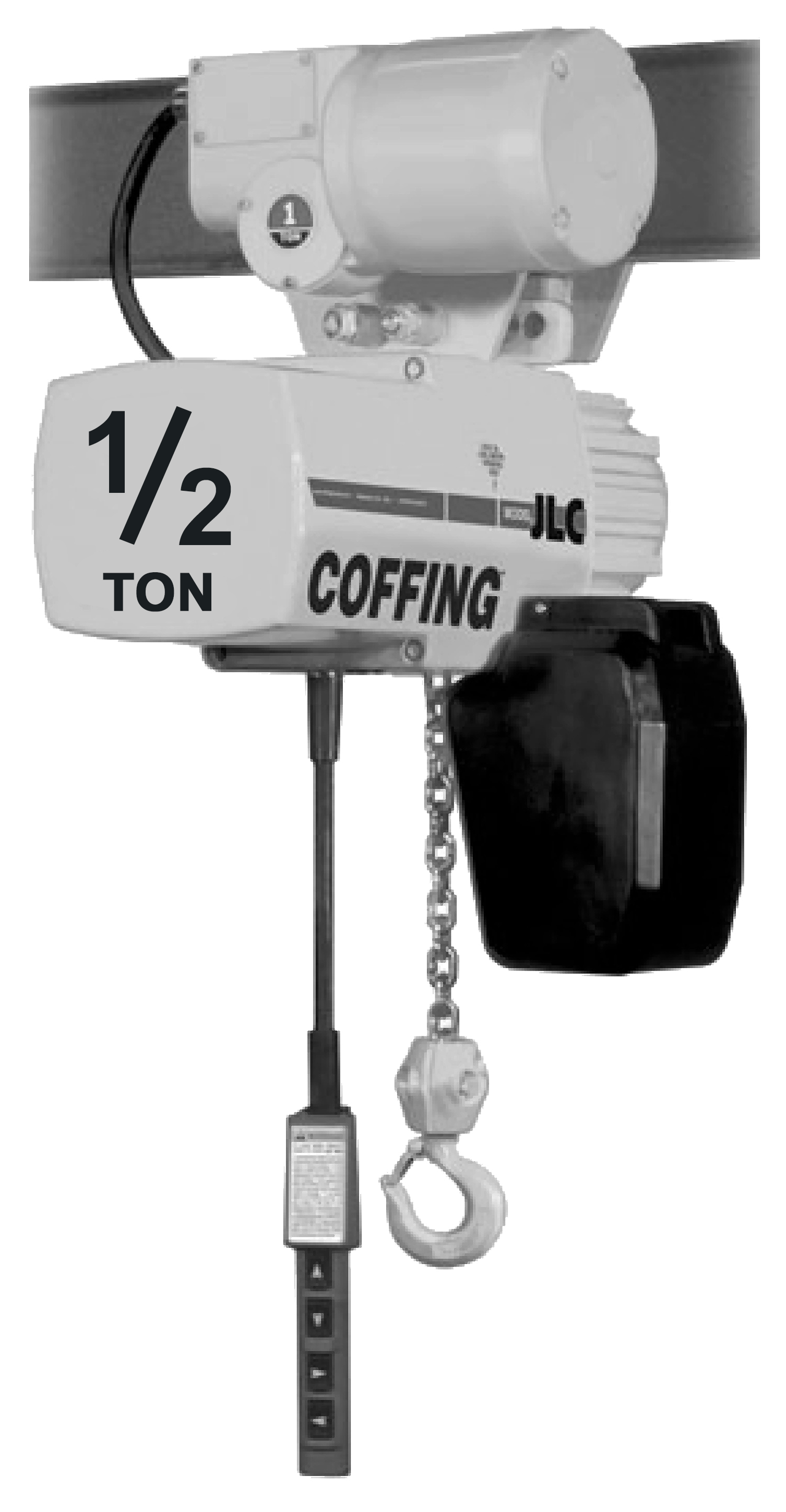 1/2-Ton Coffing JLC Electric Chain Hoist with Motorized Trolley