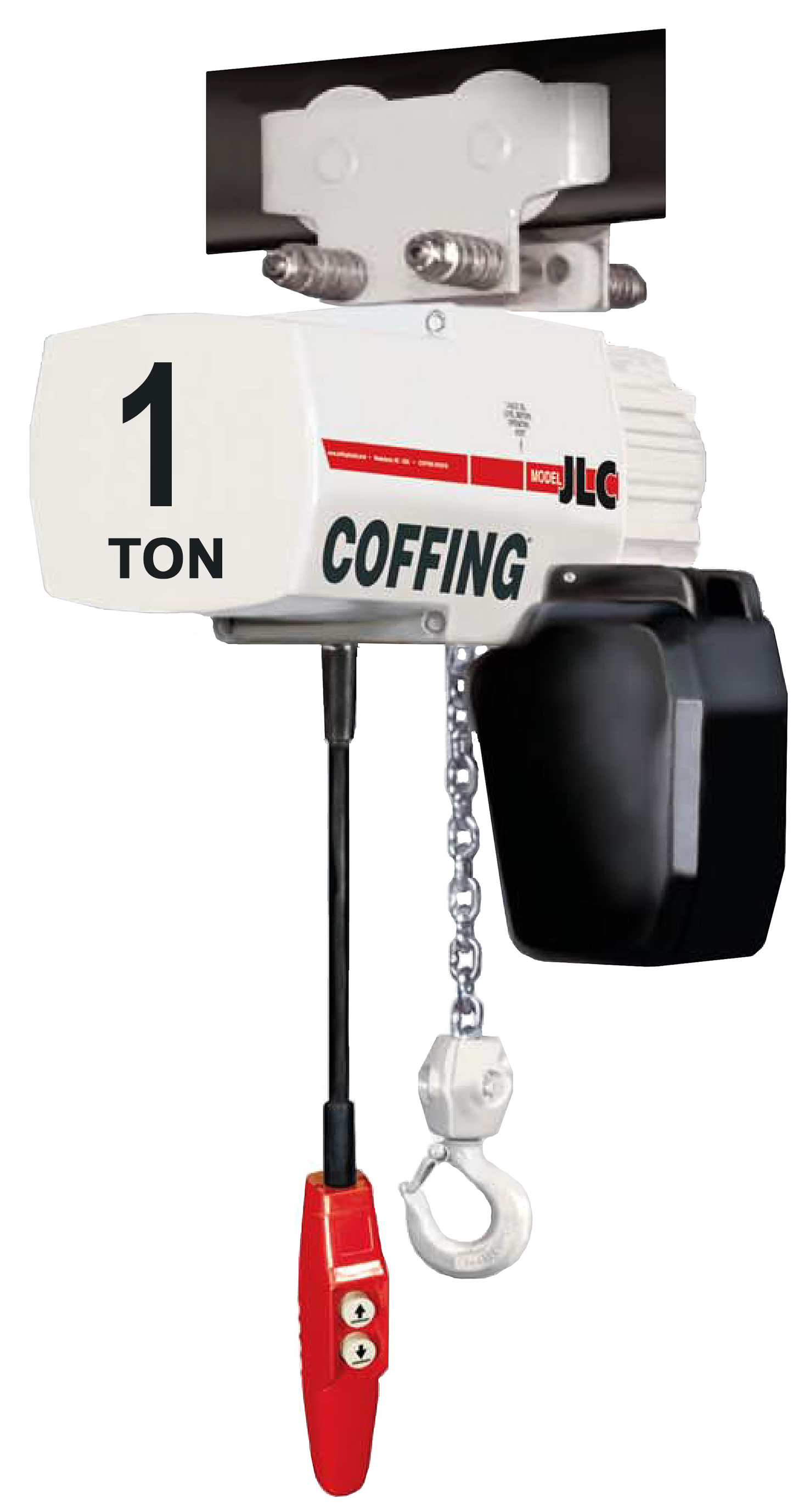 1-Ton Coffing JLC Electric Chain Hoist with Trolley