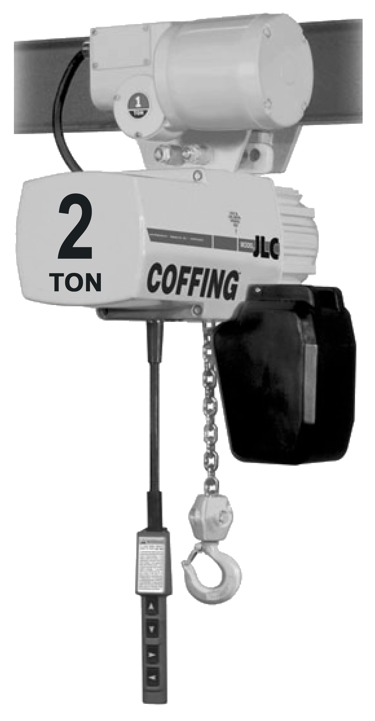 2-Ton Coffing JLC Electric Chain Hoist with Motorized Trolley