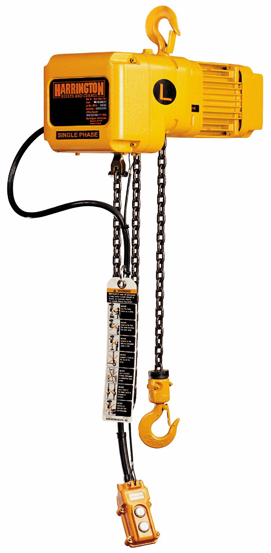 1/2-Ton Harrington SNER Electric Chain Hoist