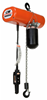 CM LodeStar Electric Chain Hoist with Metal Chain Container