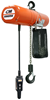 CM LodeStar Electric Chain Hoist with Fabric Chain Container