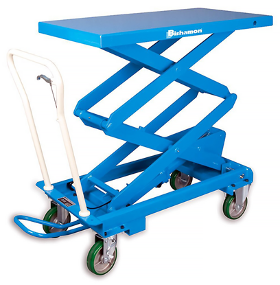 Bishamon BX-50S Double Scissor MobiLift Table, Capacity 1,100 lbs