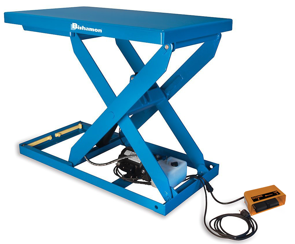 Bishamon Optimus L3K-3648 Lift Table with Foot Control, Capacity 3,000 lbs