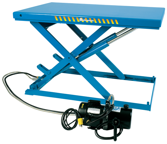Bishamon Lo-Profile LX-25L Scissor Lift Table, Capacity 550 lbs