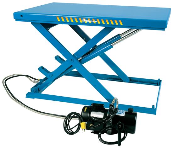 Bishamon Lo-Profile LX-100W Scissor Lift Table, Capacity 2,200 lbs