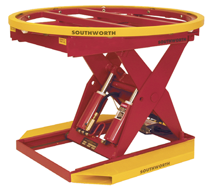 Southworth PalletPal PPH2-24 Powered-Hydraulic Level Loader, Capacity 2,000 lbs