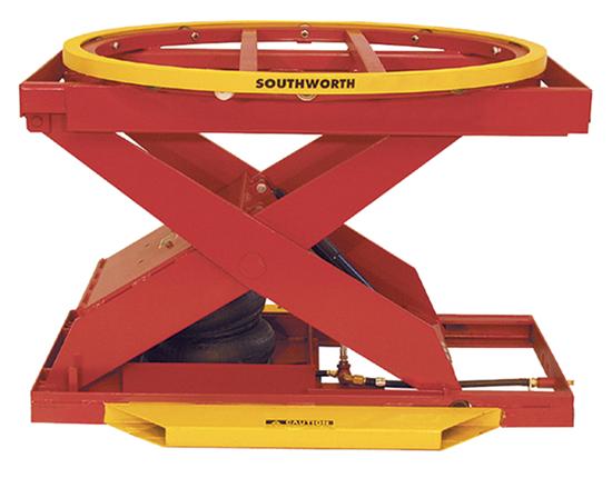 Southworth PalletPal PPA2-24 Powered-Pneumatic Level Loader, Capacity 2,000 lbs
