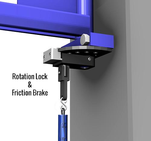 Gorbel TSJ50 Tool Balancer Jib Crane Rotation Stop and Friction Brake