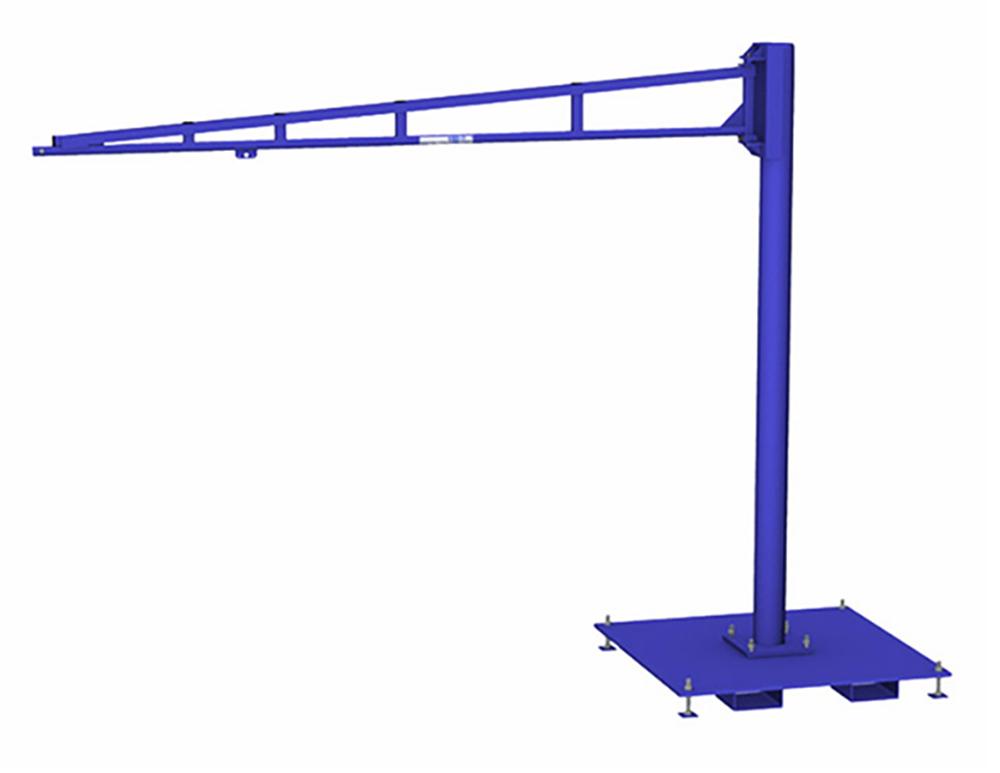 Gorbel TSJ150 Free Standing Tool Balancer Jib Crane with Portable Base