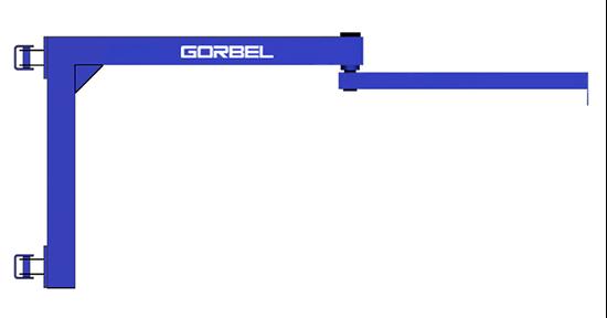 Gorbel Wall Mounted Articulating Jib Crane 1 8 Ton Span
