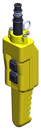 Conductix 2-Button 80 Series Pistol Grip Pendant all Single-Speed